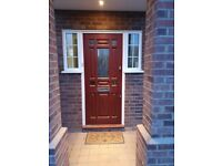 Quality Heavy Solid Mahogany Front Door Complete With All Ironmongery