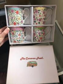 Brand new mugs in original packaging