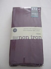 NEXT fitted double sheet mauve brand new