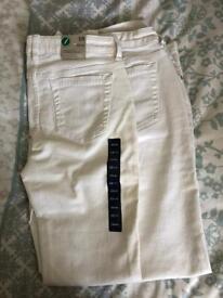 White Jeans (2 pairs) - GAP Kids - Age 13