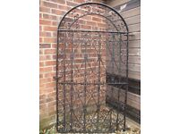 Tall Metal Garden Side Gate Blacksmith Made Heavy Iron Gate