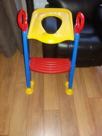 Foldable toilet training ladder. Toddler step and seat for toilet