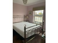 Bentley Designs Krystal antique brass bed frame. King size. Free mattress & protector if needed.