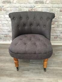 Stunning dark grey bedroom/Accent dressing table chair
