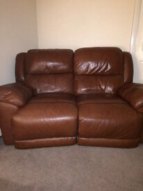 Recliner sofa hardly been sat on smoke free home