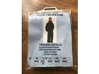 Men's size large rain trousers - waterproof