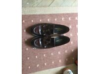 Men's ox blood fringe and tasseled loafers