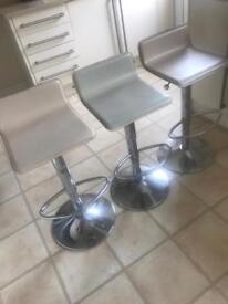 Three Cream Bar stools