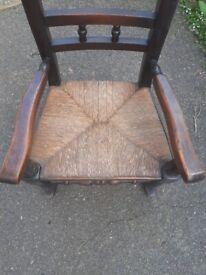 Victorian style child rocking chair