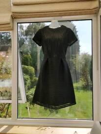 Per una size 10/12 sample ladies new dress black waffle