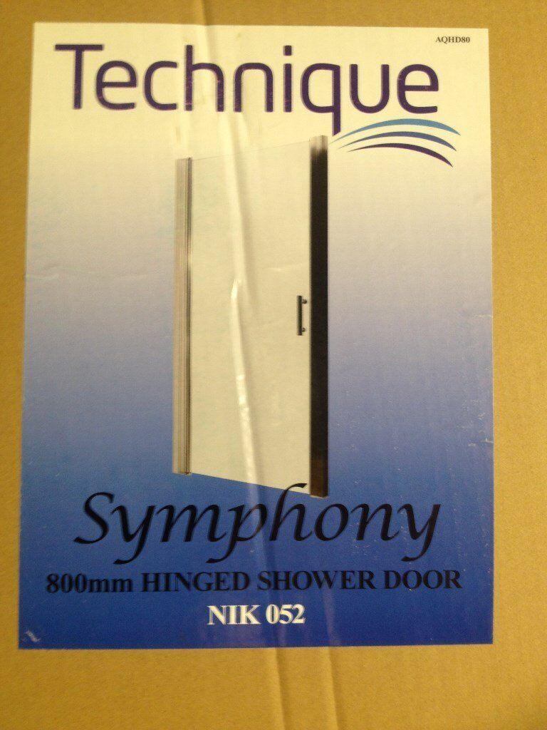 Hinged Shower Door at 800 mm wide