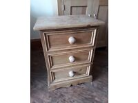 Pine Bedside Drawers - perfect for up cycling