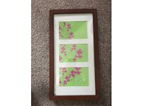 Wooden hanging picture frame