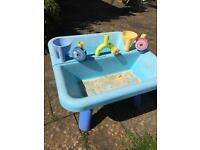 Sandpit and water play table