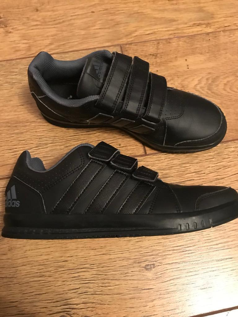 28d4a3288bfc Boys Adidas black school shoes