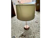Rose Gold Glass Lamp