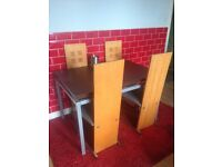 Dinning table and 4 high back chairs