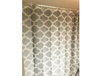 Moroccon grey shower curtain length 182cm £3
