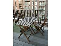 Outdoor tables and chairs + cushions, ikea
