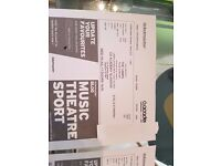 2 x Stalls Standing tickets THE VAMPS 02 Academy Glasgow 5th July 2017