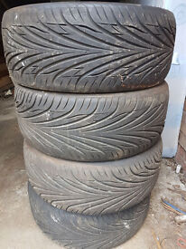 Used Full run tyres, Size; 225/40ZR18 92W XL Radial Tubeless - Low profile for sale
