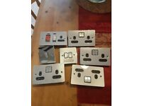 Mix of double and single plug and light sockets