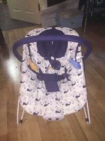 Blue whale mothercare baby bouncer