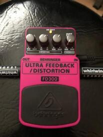 Pair of Behringer pedals Ultra Wah/Ultra Feedback Distortion