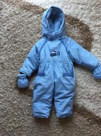 Baby boy 18 months winter waterproof suit