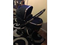 Mothercare Orb Pushchair (Liquorice) with Maxi Cosi Car Seat and adapters