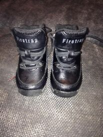 Boys firetrap boots and Nike air max trainers