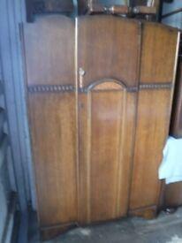 Wardrobe. plywood, single door with key.