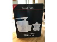 Russell Hobbs Classic White Juice Centre - Excellent Condition & boxed