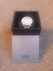 Ladies Storm Gold and White Watch