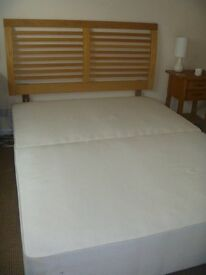 Bed-King size sprung divan bed base, very good condition. Bought from John Lewis.