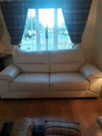 Cream leather sofas 6mths old