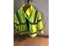 Arco Essentials Hi-Vis Coat Yellow Size M