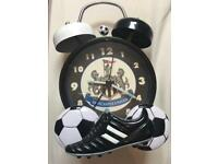 Newcastle United alarm clock and lampshade both in great condition