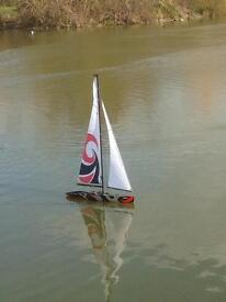 Radio controlled yacht