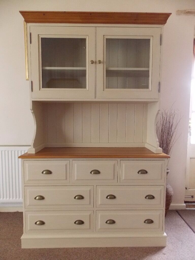 Shabby Chic Welsh Dresser Painted In Annie Sloan Old Ochre