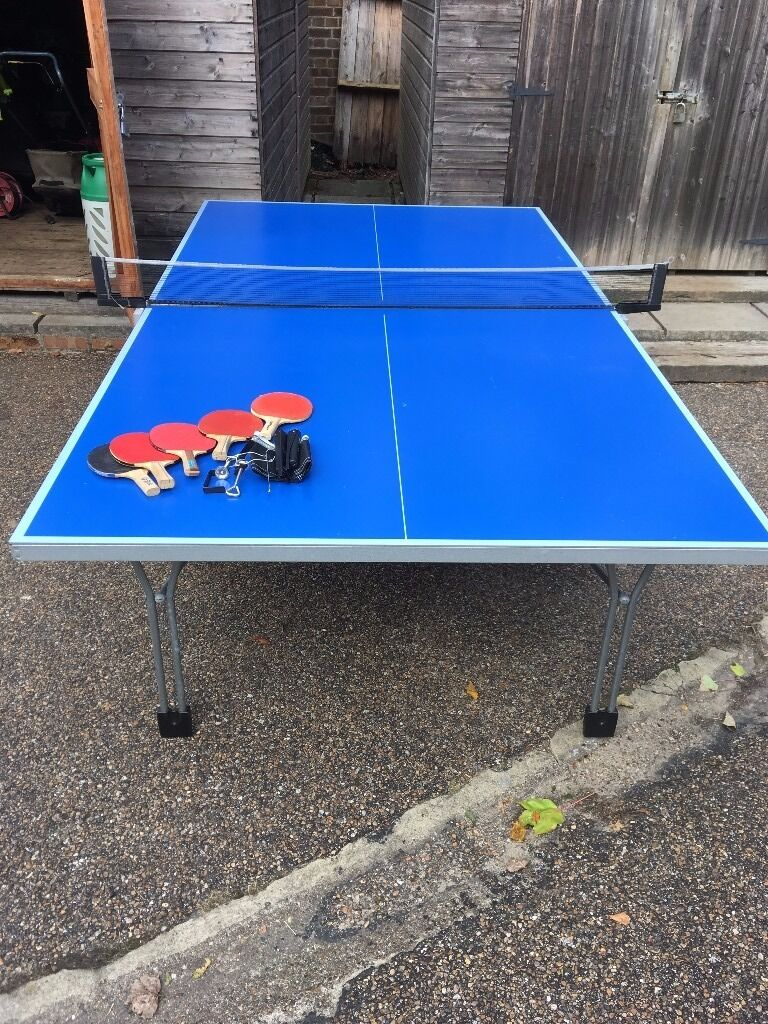 Cornilleau hobby 140 outdoor table tennis ping pong table extra net and 5 paddles in redhill - Gumtree table tennis table ...
