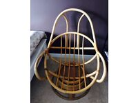 The chair is in very good condition, it turns all the way round, leans back, very comfortable