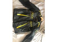 Wolf leather biker outfits, High Quality Men's and Ladies, fully padded