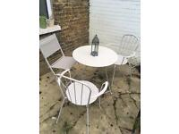 Garden bistro set table and chairs £25