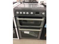 BRAND NEW HOTPOINT SILVER 60CM GAS COOKER WITH OVEN & GRILL