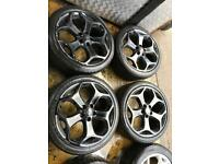 """18"""" GENUINE FORD FOCUS ST ALLOY WHEELS MONDEO GALAXY CONNECT SET OF 4 c"""