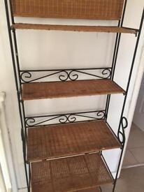 Wicker shelves