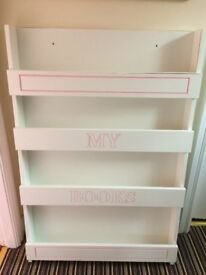 Front Facing Children's Bookcase - White & Pink