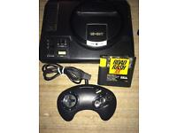 Sega Megadrive console and road rash