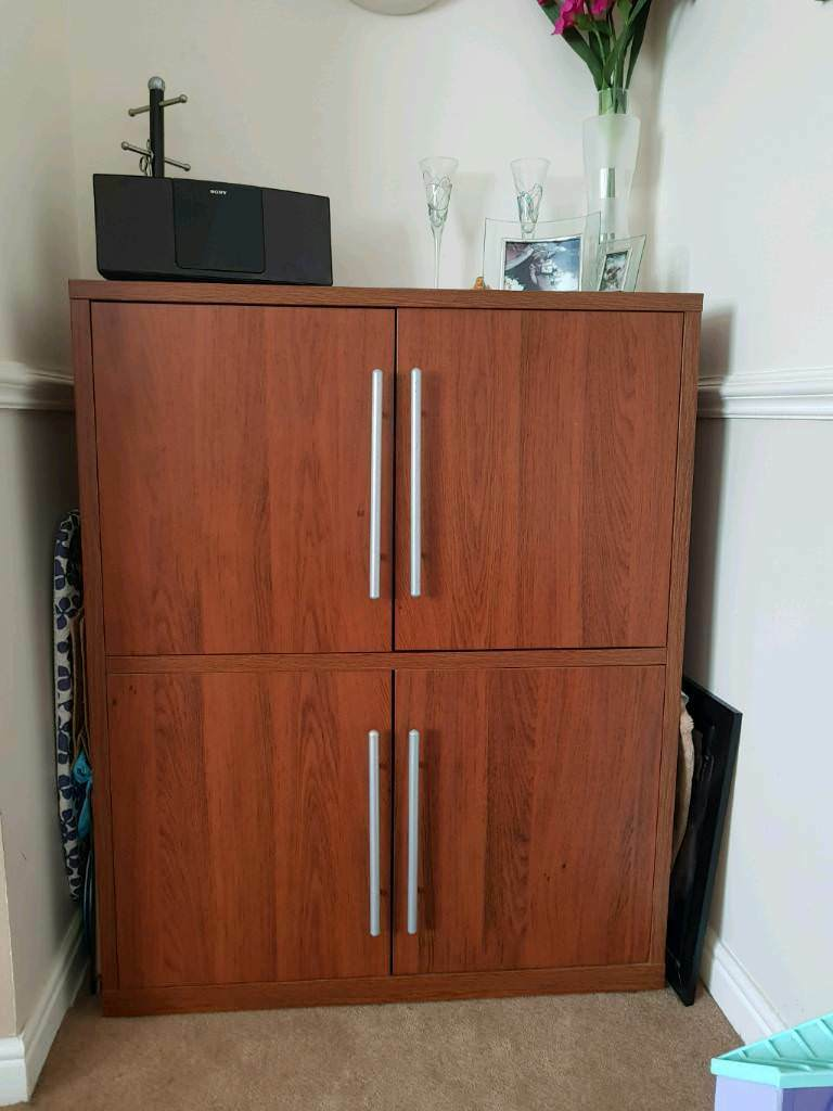IKEA Dark Brown Dining Room Cabinet